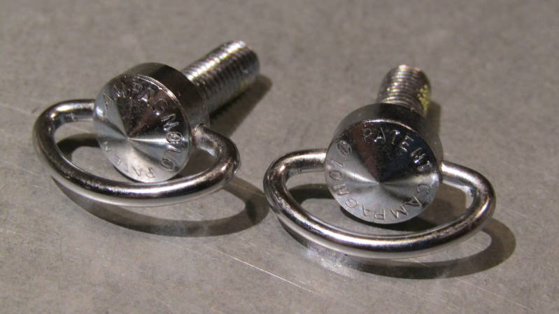 CAMPAGNOLO C RECORD Gear Lever wing nuts 2X NOS! BXC00F8*