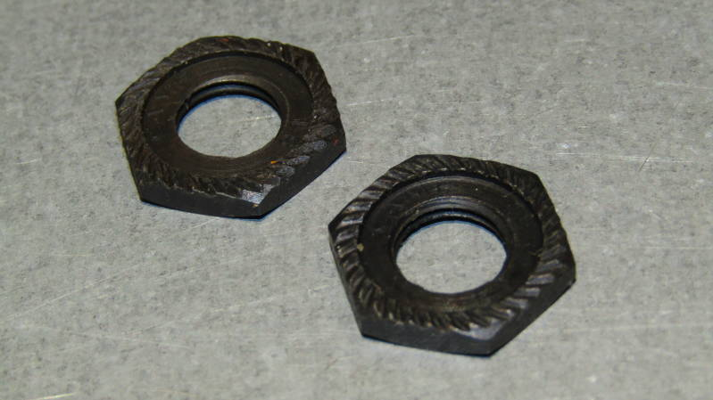 CAMPAGNOLO NUOVO RECORD 1981 Front Axle Lock Nuts 2X NOS! BXC00D24*