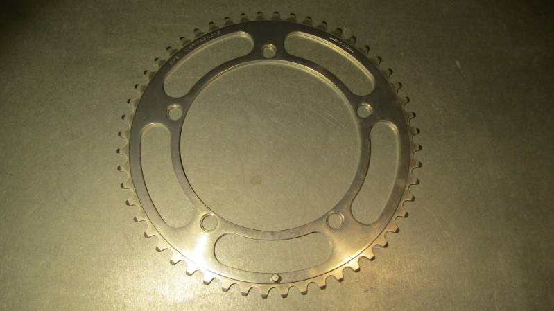 *CAMPAGNOLO NUOVO RECORD 52t BREV. ALLOY ROAD Chain wheel BCD 144mm NOS! BX36 55 - 3/6/20 RK13