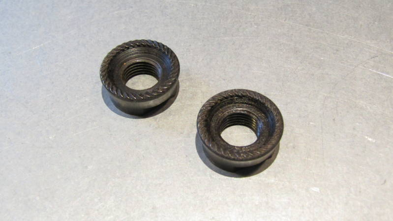 CAMPAGNOLO NUOVO RECORD ( PATENT 83 ) Rear hub axle lock nuts 2X NOS! BX52*