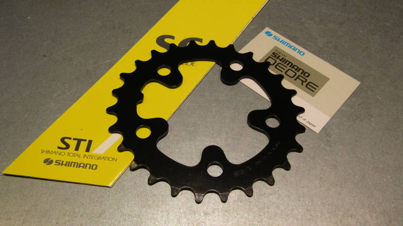 SHIMANO DEORE 28t BIOPACE Alloy Chainwheel BCD 74mm NOS! BXC00F31