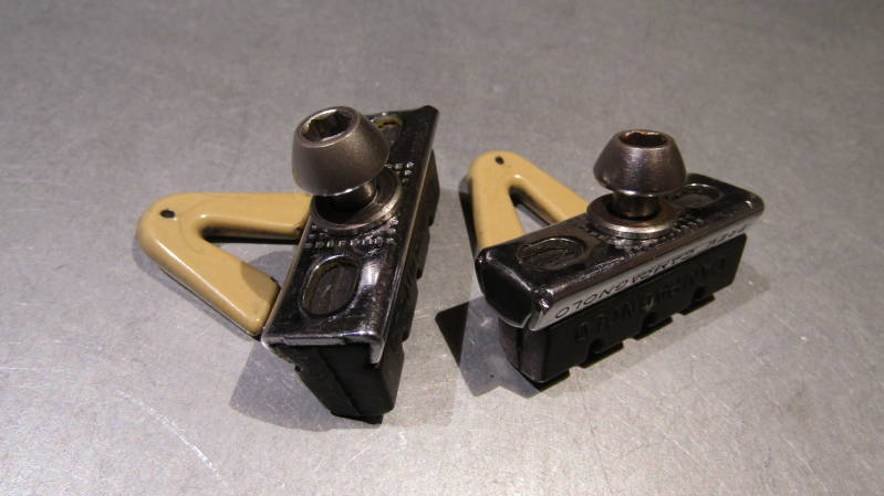 CAMPAGNOLO CHORUS Brake Block Holders With NOS CAMPAGNOLO Blocks One Calipers Worth! BXCC005
