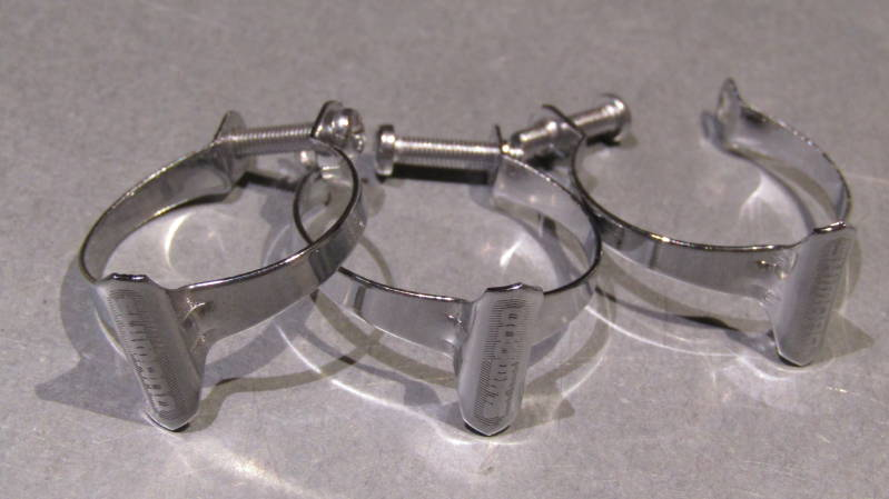 SHIMANO VINTAGE 70's CHROME Steel Top tube brake cable clip set 3X  NOS BXCC0024