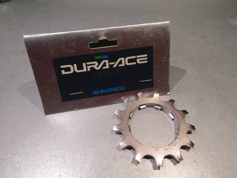 SHIMANO DURA ACE #7402 ERA 7/8sp 13t UNIGLIDE CASSETTE Cog with spacer NOS! BXC00B13
