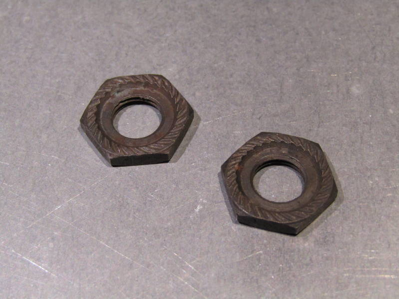 CAMPAGNOLO NUOVO RECORD ( 77 ) Front Hub Axle LOCK NUTS 9X26 NOS! BXC00D25
