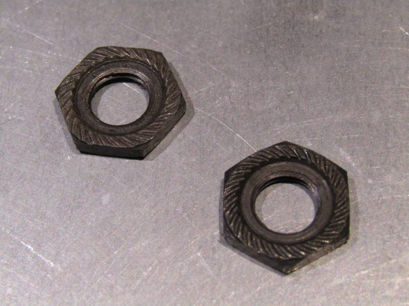 **CAMPAGNOLO NUOVO RECORD ( 78 ) FRONT 9X26 Axle LOCK NUTS 2X NOS! BXC00D28 505 - 6/13/20 RK09