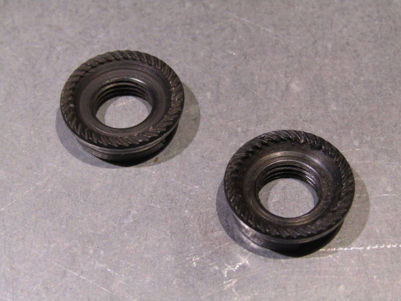 CAMPAGNOLO Rear Axle TRACK/PISTE LOCK NUTS 10X26 ( 81 ) NOS! BXC00D34