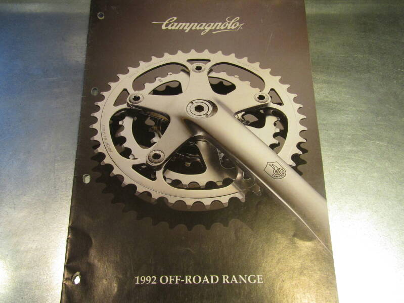 CAMPAGNOLO 1992 OFF-ROAD RANGE CATALOGUE 4 PAGES BX04 04 - 4/1/20 RK10