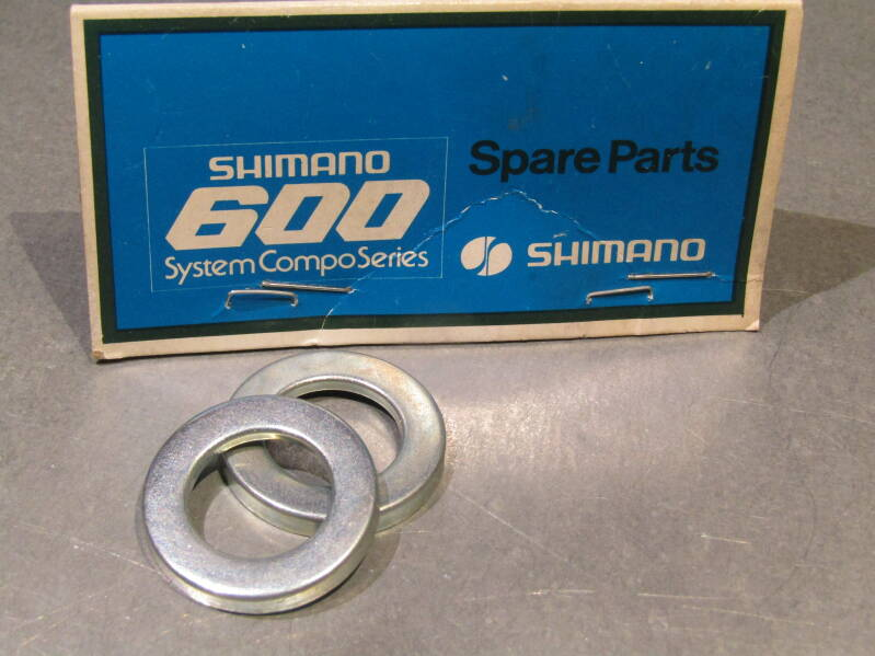 SHIMANO 600 Rear Hub STEEL Dust caps 2X NOS! BXC00G25
