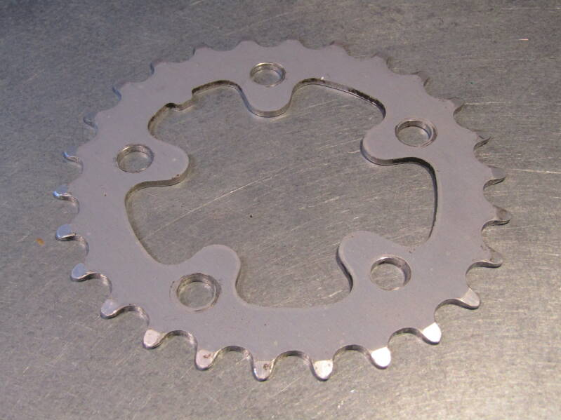 SHIMANO DEORE 26t BIOPACE chain-wheel BCD 74mm 2nd hand BXC00N31 05 - 4/30/20 RK13