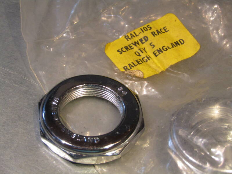 RALEIGH RAL-105 VINT. 60's/70's Headset ENGLISH Thread adjustable bearing race NOS! BB22B 800 - 8/26/20 RK02