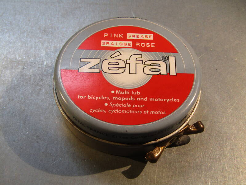 ZEFAL SMALL TIN PINK/RED Grease NOS! BB21G 01 - 4/23/19