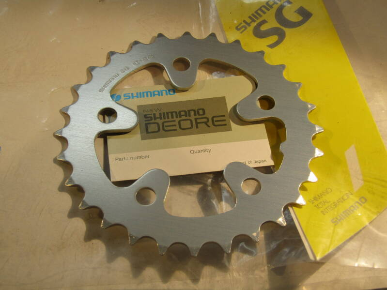 SHIMANO DEORE 28t ROUND ALLOY Chain-wheel BCD 74mm NOS! BXC00F33 05 - 4/27/19