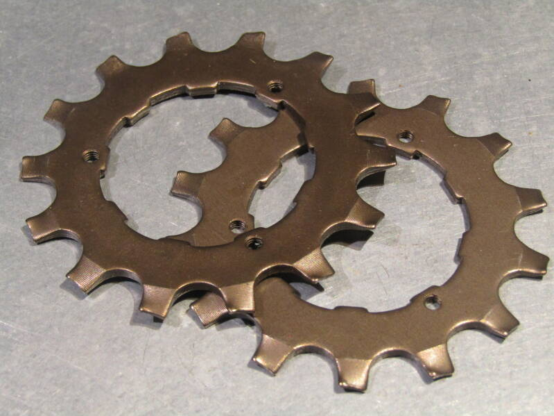 SHIMANO EXAGE 14t UNIGLIDE CASSETTE COGS 2X NOS! BX61A 4440 - 10/3020 RK01