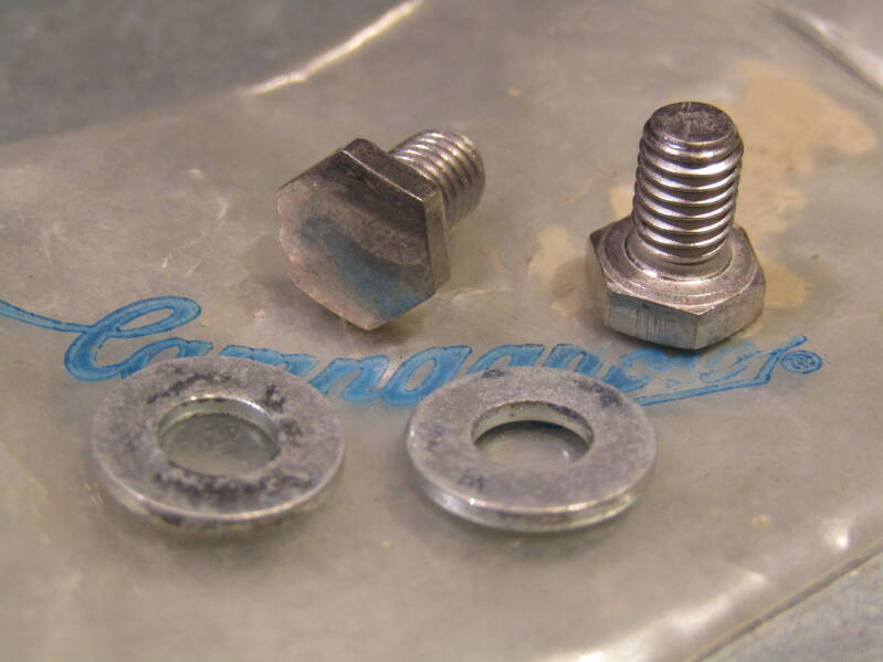 CAMPAGNOLO NUOVO/SUPER RECORD Pedal toe-clip mounting hardware NOS/NIP! BX72A 4440 - 10/30/20 RK12