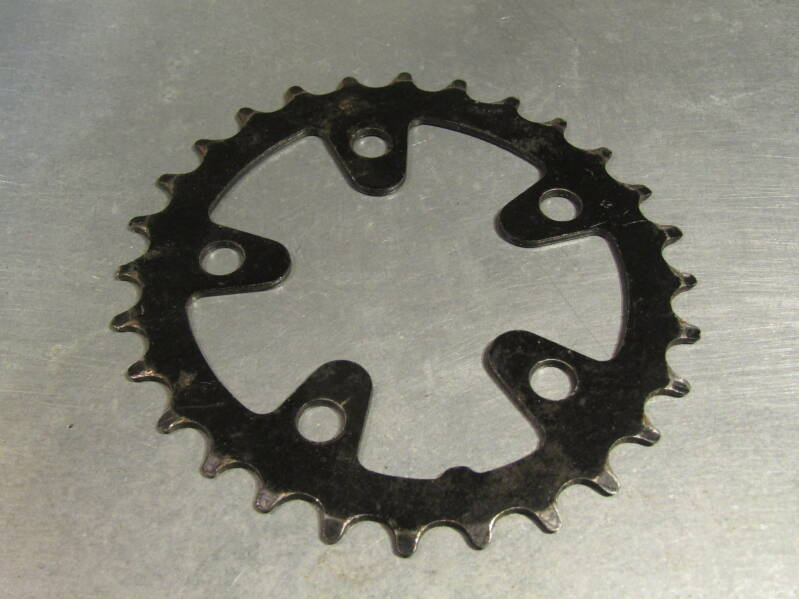 SHIMANO DEORE DX 28t STEEL BIOPACE Chainwheel BCD 74mm 2nd hand BXC00L13 0008 - 11/22/20 RK12