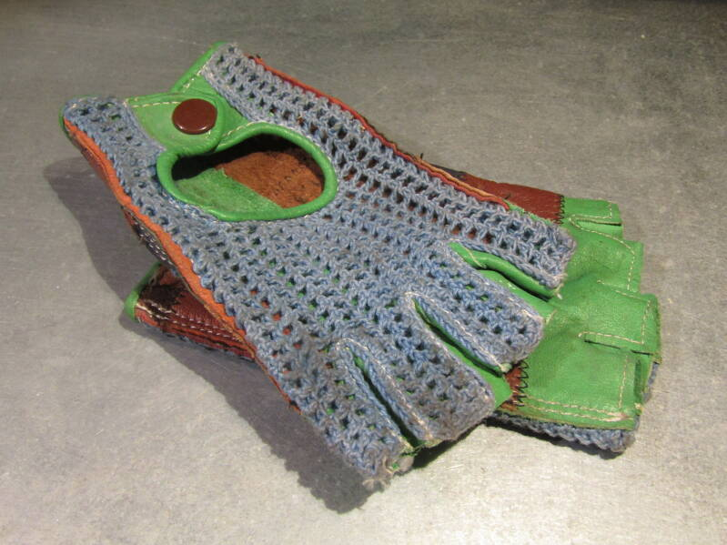 Old School leather mesh cycling gloves XS NOS! BXC00J01 7771 - 4/12/20 RK02