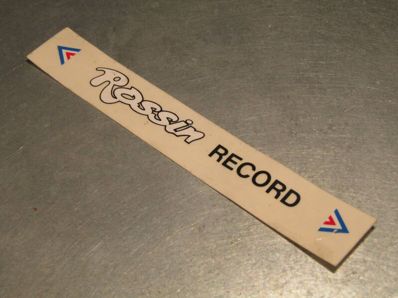 ROSSIN RECORD Frame sticker NOS! BX51A 0055 - 5/2/21 RK12