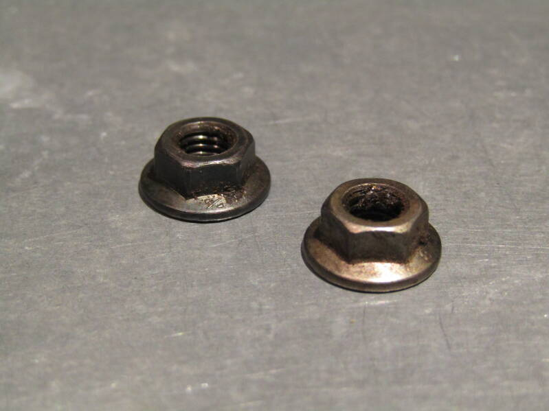 MKS type Flange type toe-clip nuts BACK 1X pedals worth NOS! Beta05 D09-001-07 18/3/21