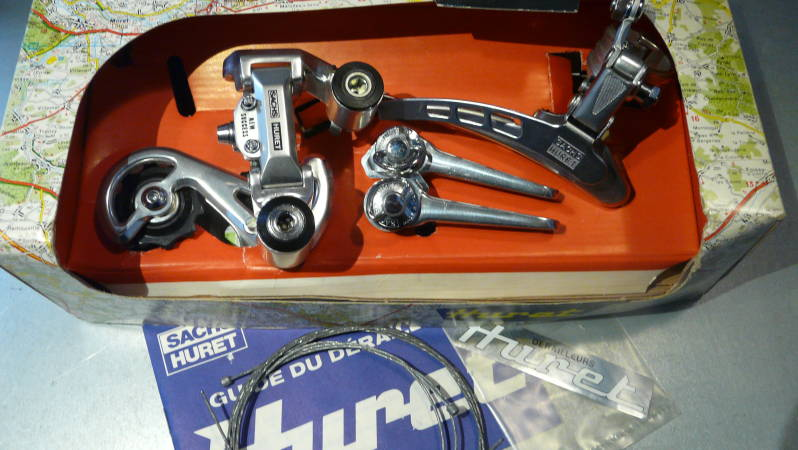 *HURET Vintage 80's Success Deraillleur set With BZ-ON Gear Levers NOS BX41a*