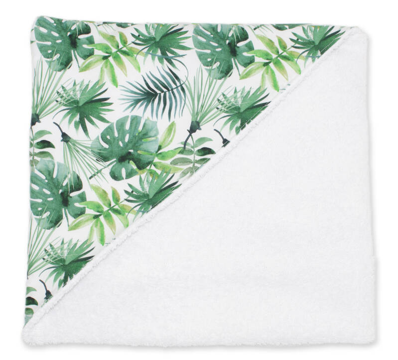 Badhanddoek met kap - Jungle leaves