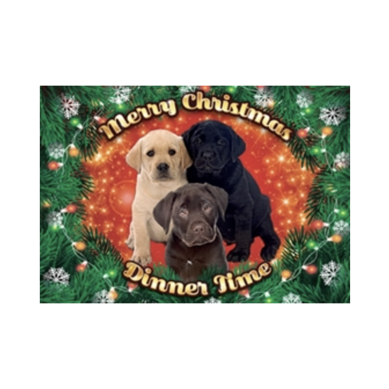 Plenty Gifts Placemat Xmas Labrador Pups