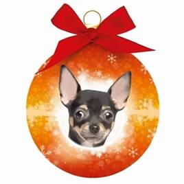 Plenty Gifts Kerstbal Chihuahua 8 cm