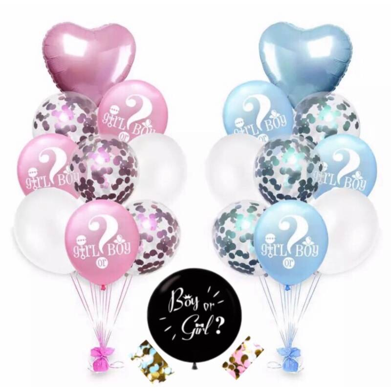 Gender Reveal Party Decoratie Ballonnen - Boy or Girl - Deluxe