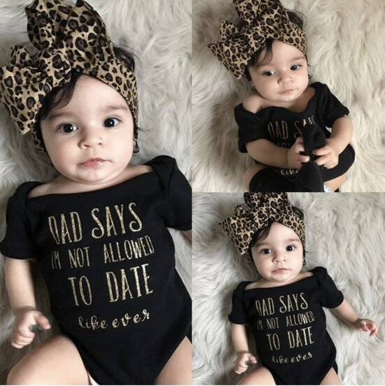 Rompertje: Dad says im not allowed to date like ever + Hoofdband 3-6M