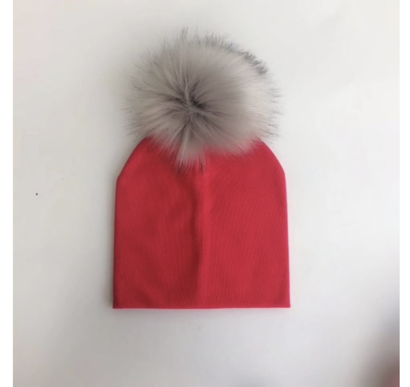 PomPom Muts Rood Baby & Peuter