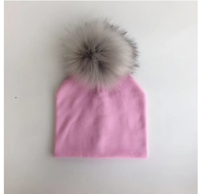 PomPom Muts Roze Baby & Peuter