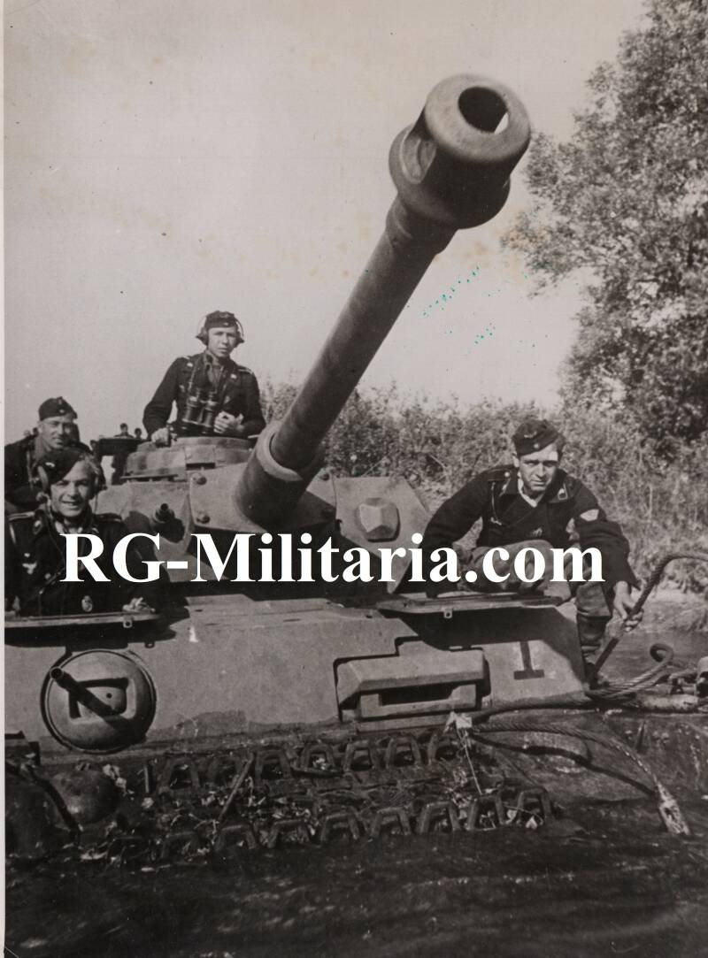Press photo - Panzer 4 IV, Eastern Front (1943)