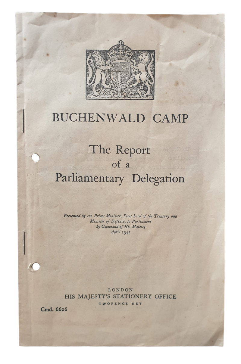 Brochure - Buchenwald camp The Report of a Parliamentay Delegation 1945 Holocaust