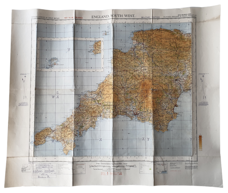 British map - England, south west 1940