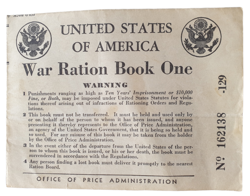 United States of America War rations book one