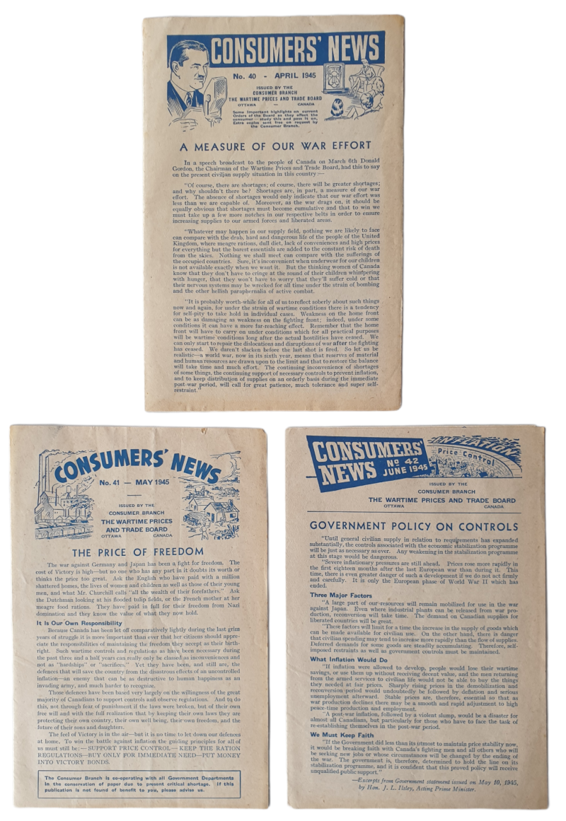 3x Consumers news 1945