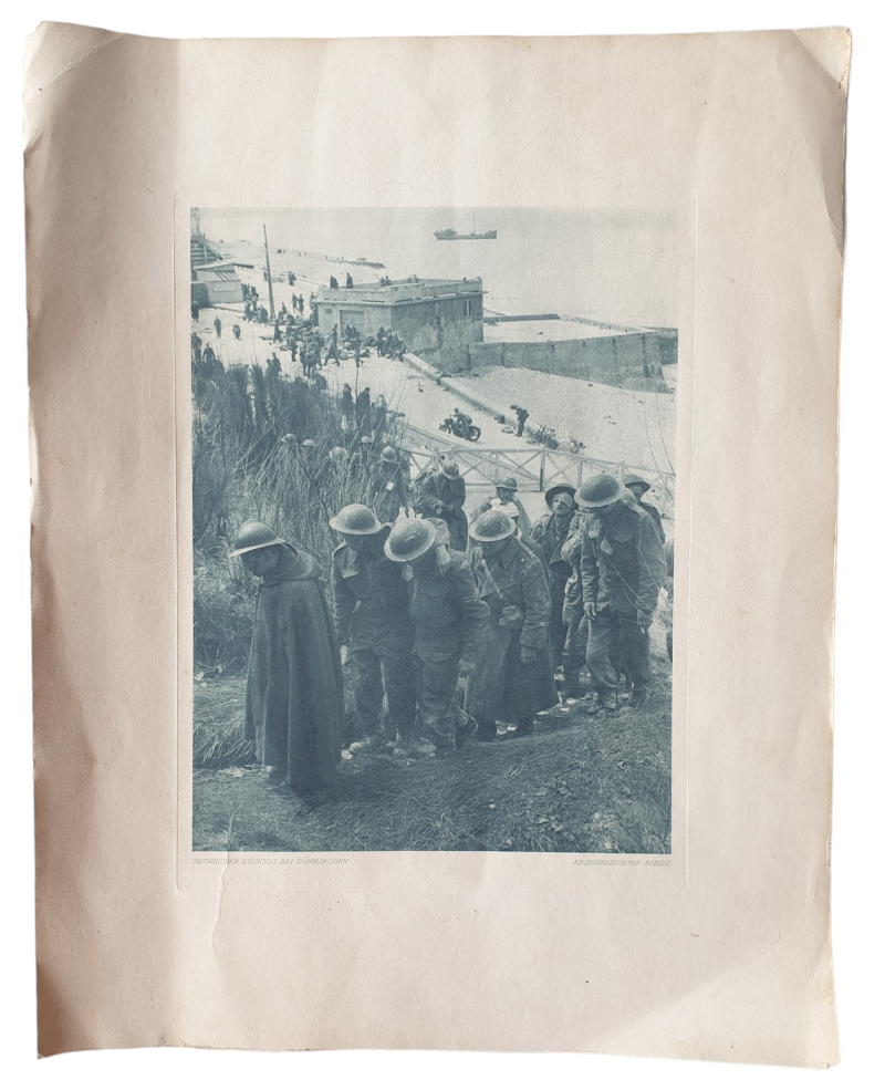 Press photo English soldiers in Dunkirk 1940