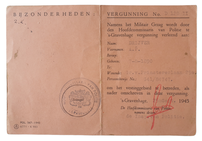 Permit MG the Hague access to Scheveningen and Clingendaal