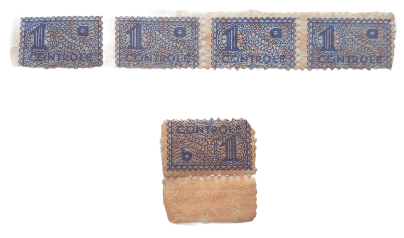 Persoonsbewijs ''controle'' stamps