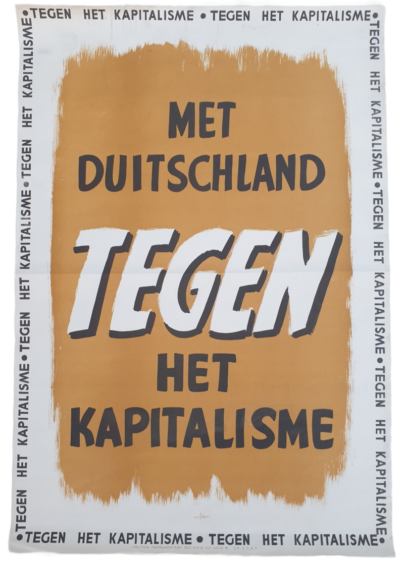 NSB poster ''With Germany against Capitalism''