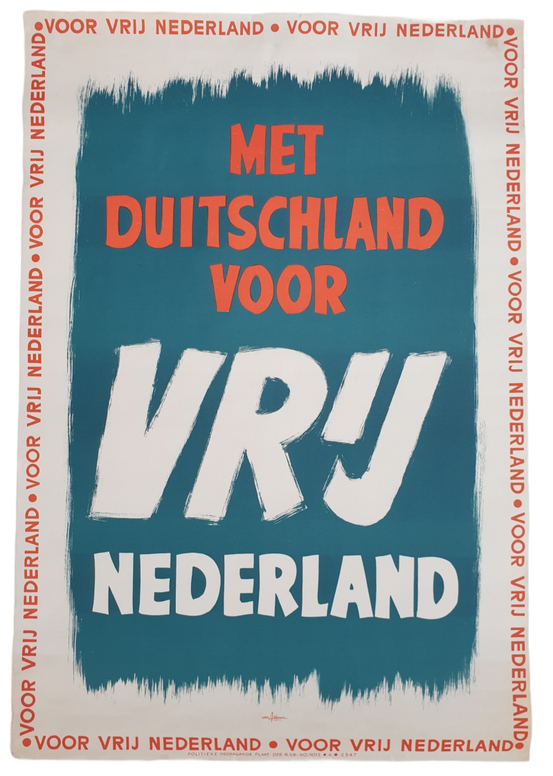 NSB poster ''With Germany for a free Netherlands''