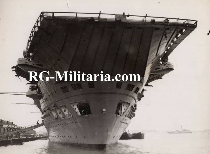 Press photo - Aircraft Carrier ''Ark Royal'' 25th of March 1940