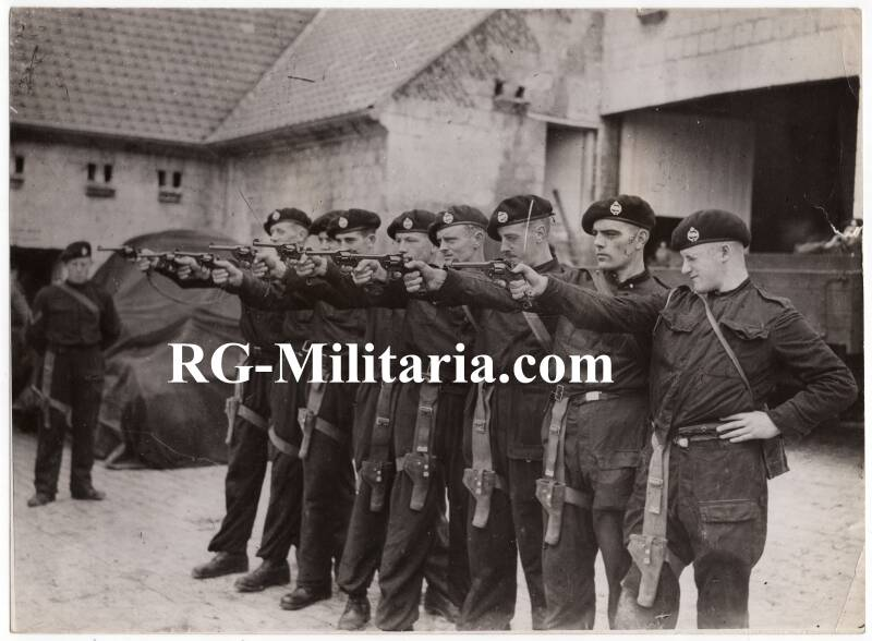 Press photo - Revolver practice Royal Tank Corps 5th of February 1940