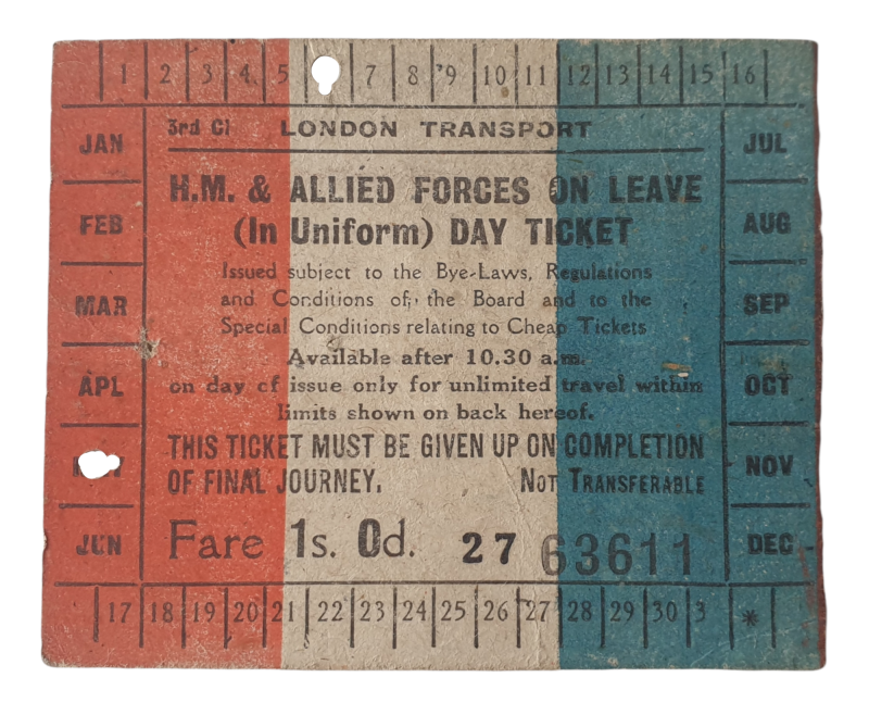 Document - Forces on leave day ticket 6th of May