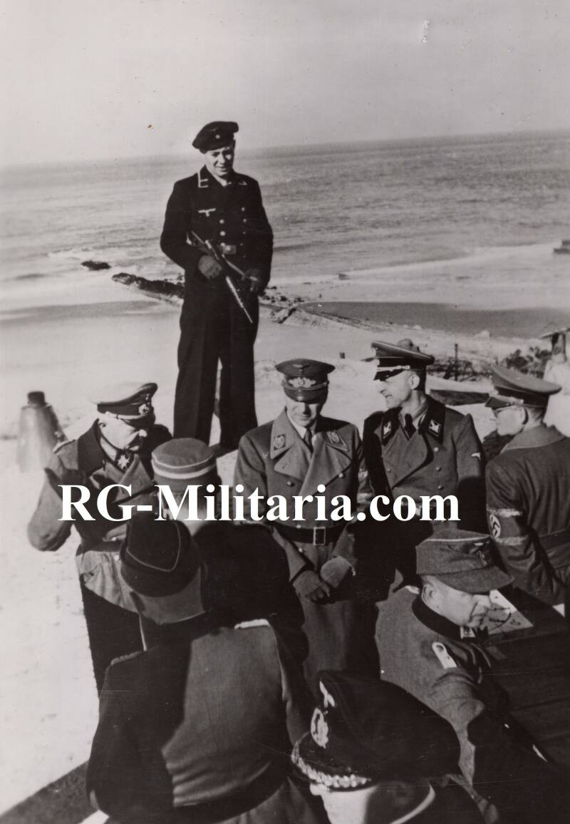 Press photo - Alfred Rosenberg and Generalleutnant Wilck Atlantic Wall