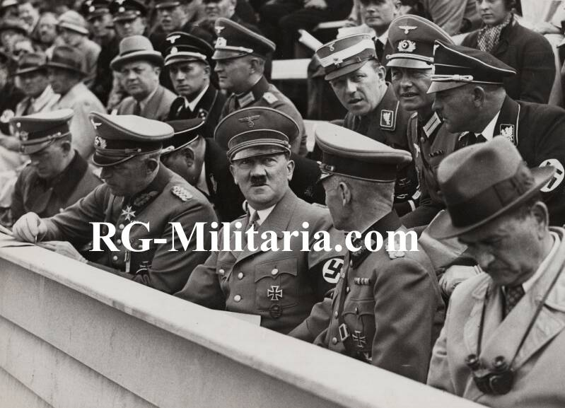 Press photo - Adolf Hitler at the Olympics in 1936