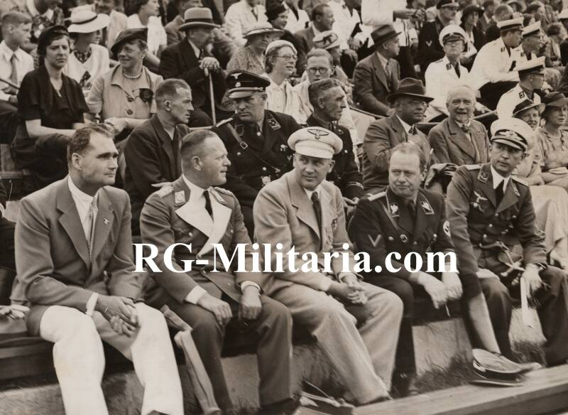 Press photo - Rudolf Hess at the Olympic Games 1936