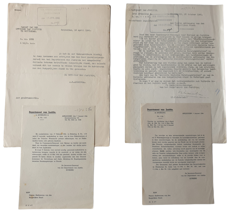 Document - German-born baby's in the Netherlands