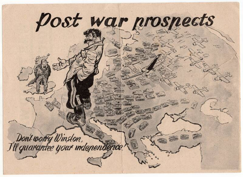 Leaflet ''Post war prospects'' Stalin and Churchill