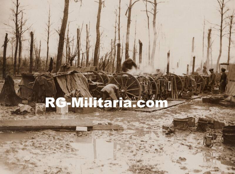 WW1 press photo Field kitchens on the Western front